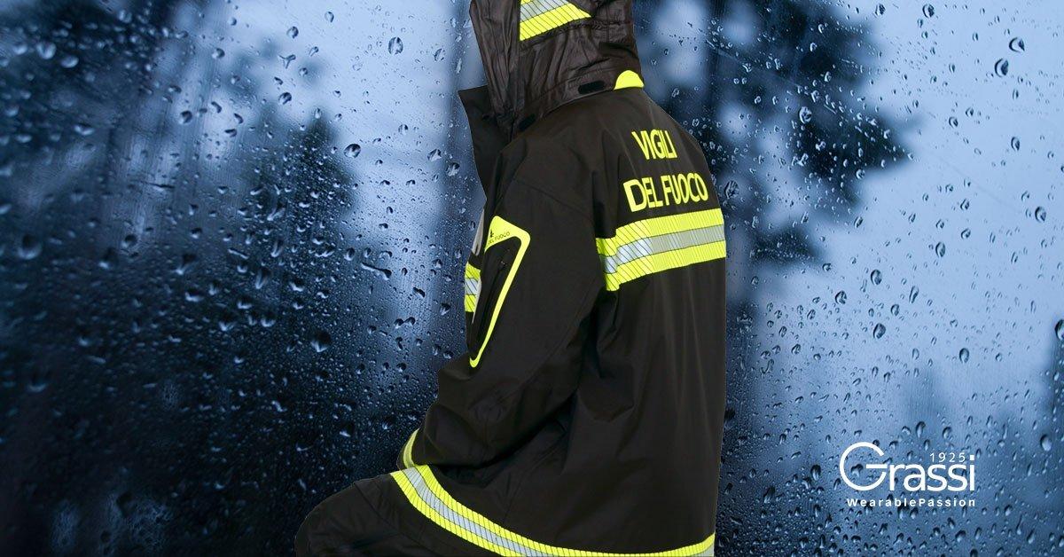 Completo pioggia vigili del fuoco